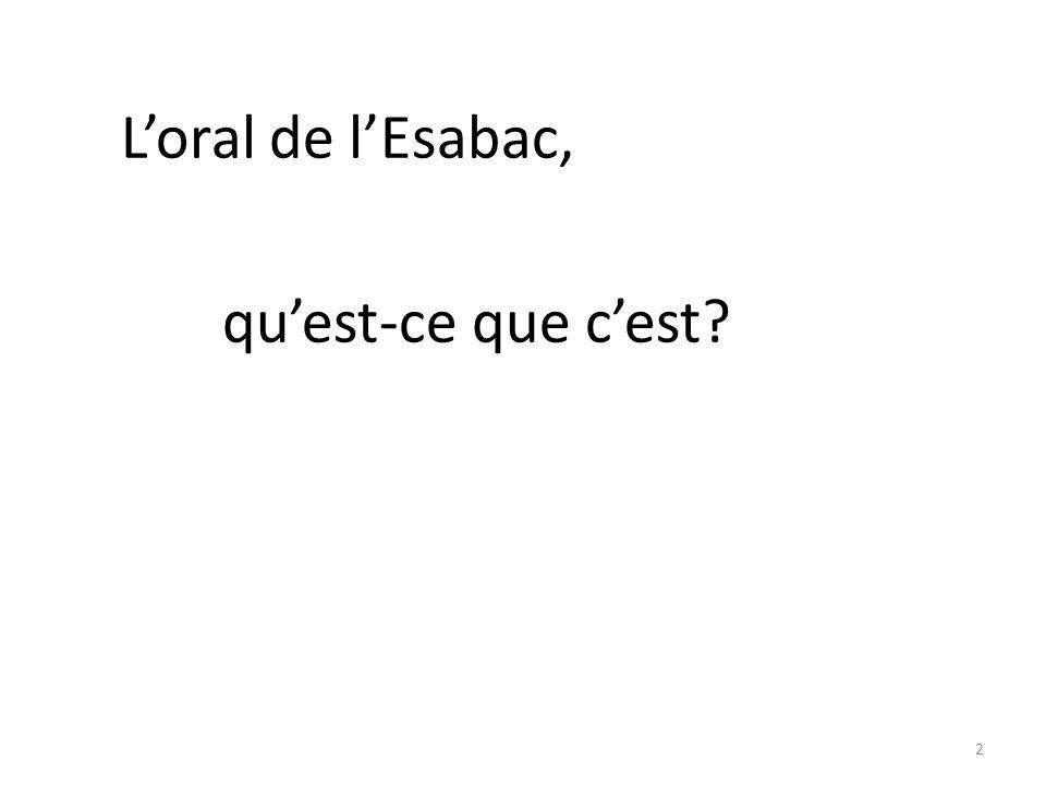 L'oral de l'Esabac, qu'est-ce que c'est
