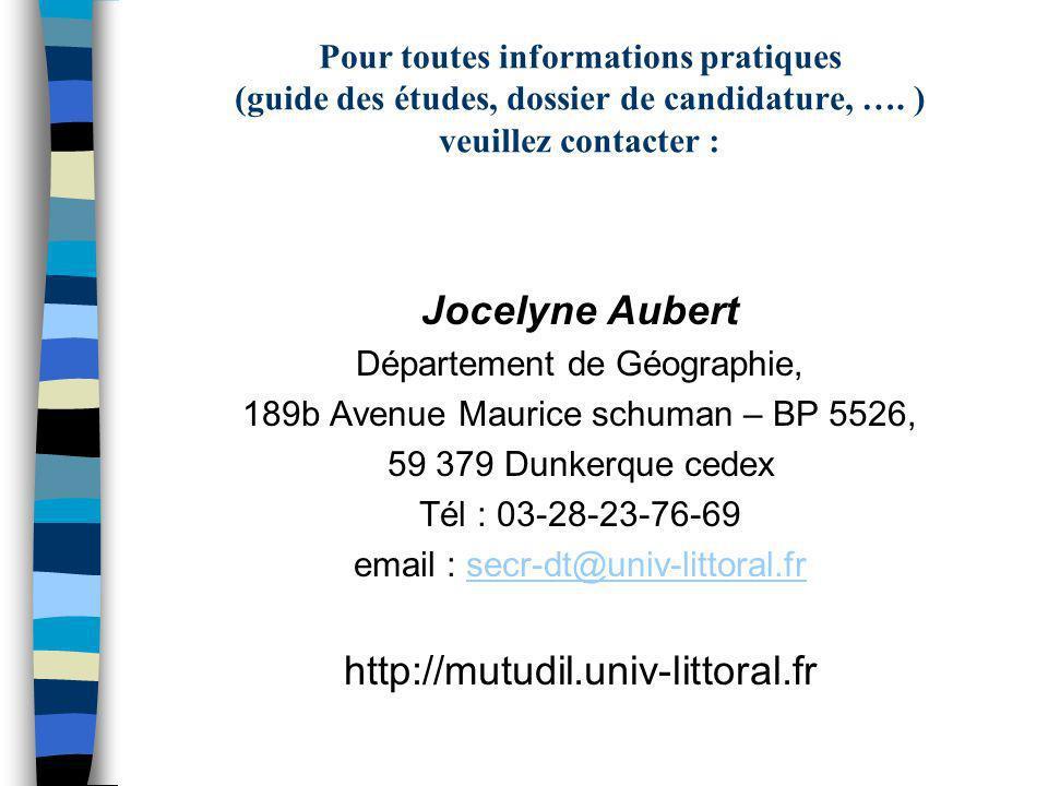Jocelyne Aubert http://mutudil.univ-littoral.fr