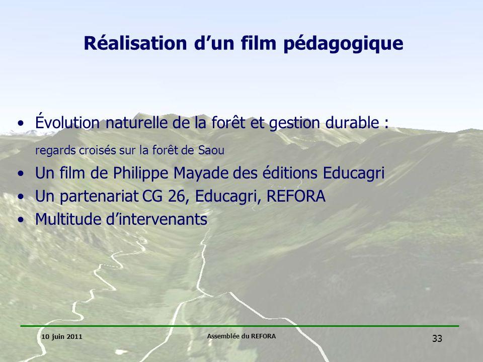 Réalisation d'un film pédagogique
