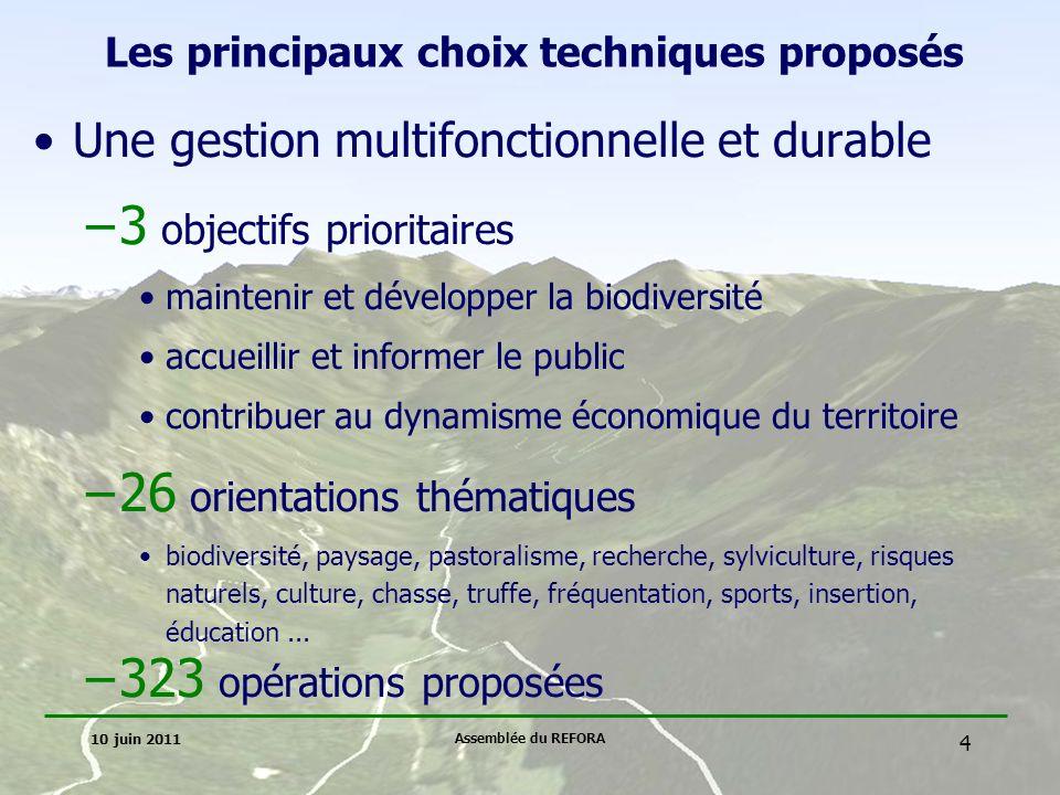 Les principaux choix techniques proposés