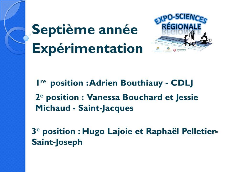 Septième année Expérimentation