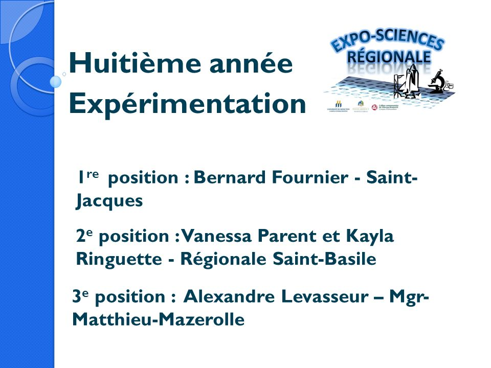 Huitième année Expérimentation