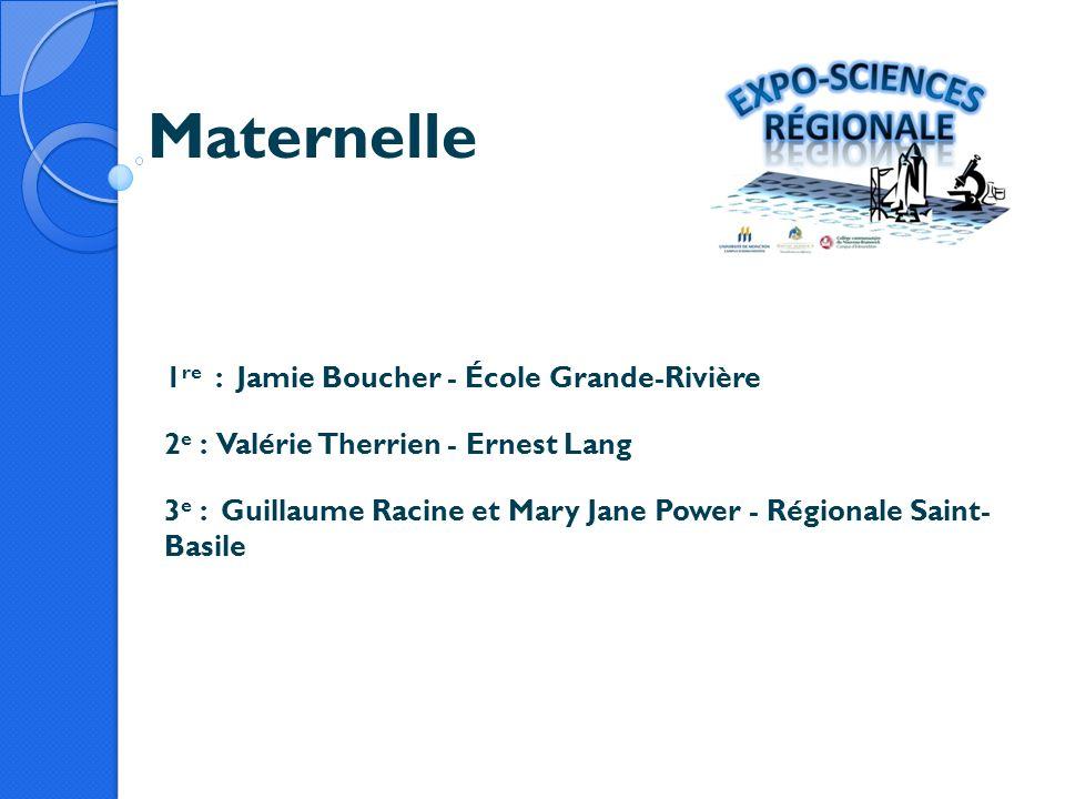 Maternelle 1re : Jamie Boucher - École Grande-Rivière