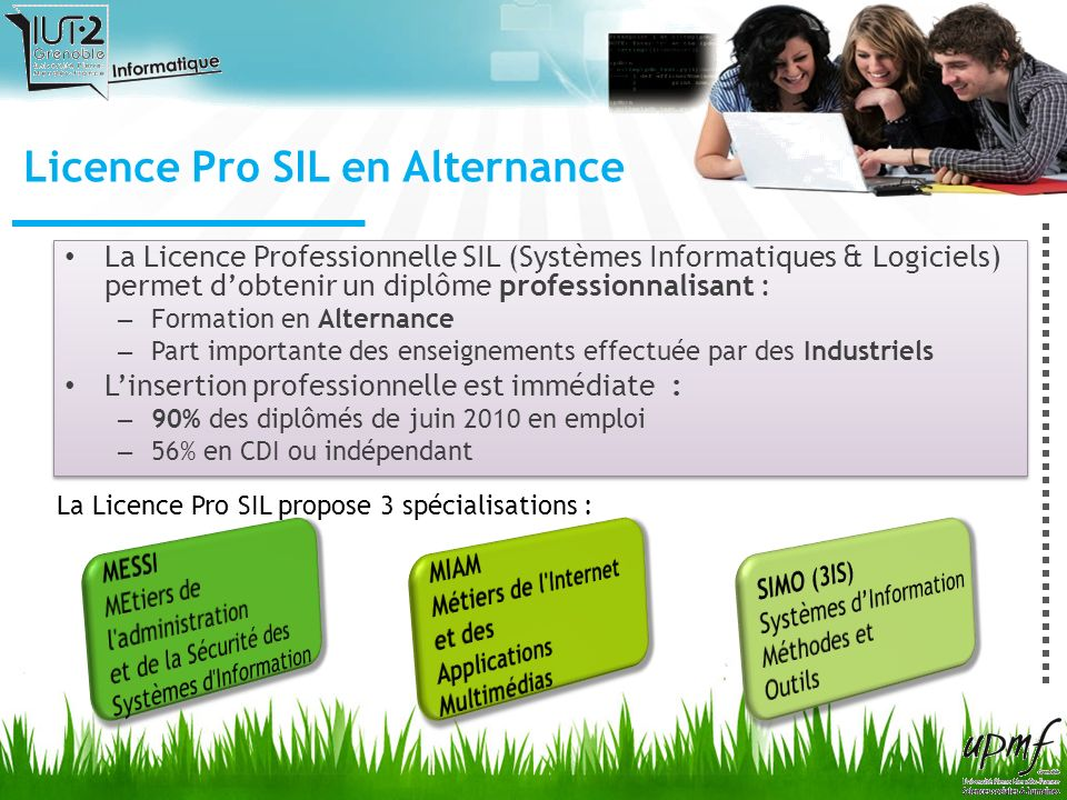 Licence Pro SIL en Alternance