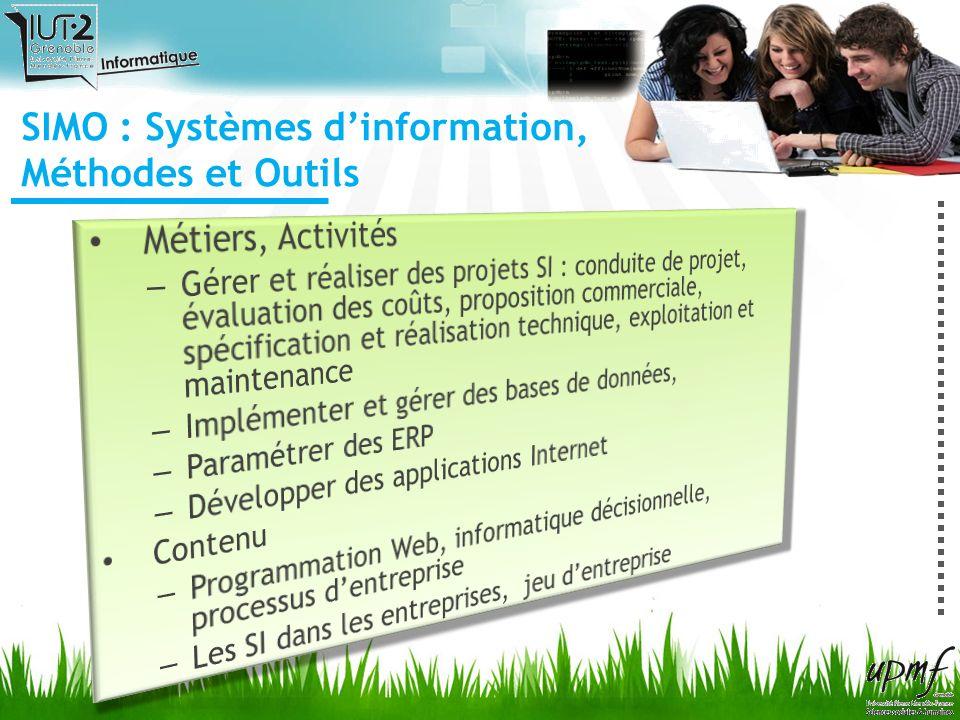 SIMO : Systèmes d'information, Méthodes et Outils