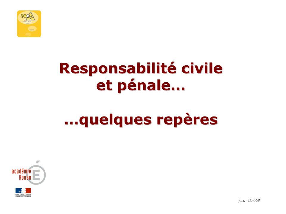 Responsabilité civile et pénale…