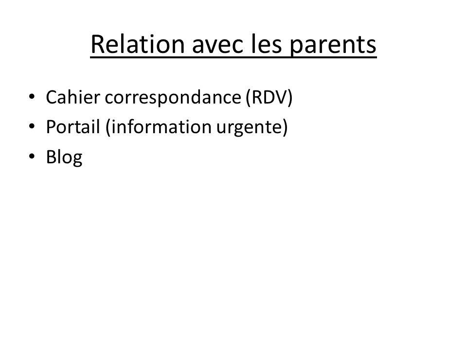 Relation avec les parents