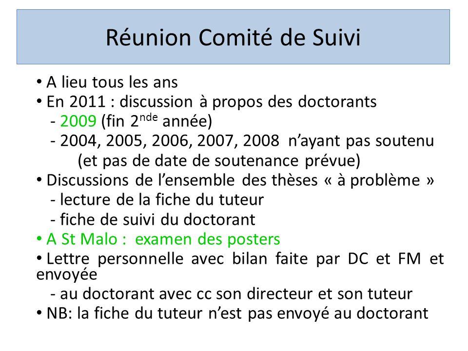 Réunion Comité de Suivi