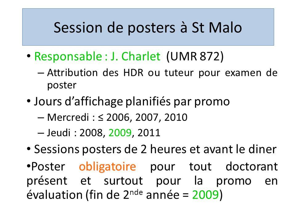 Session de posters à St Malo