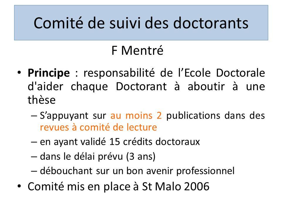 Comité de suivi des doctorants