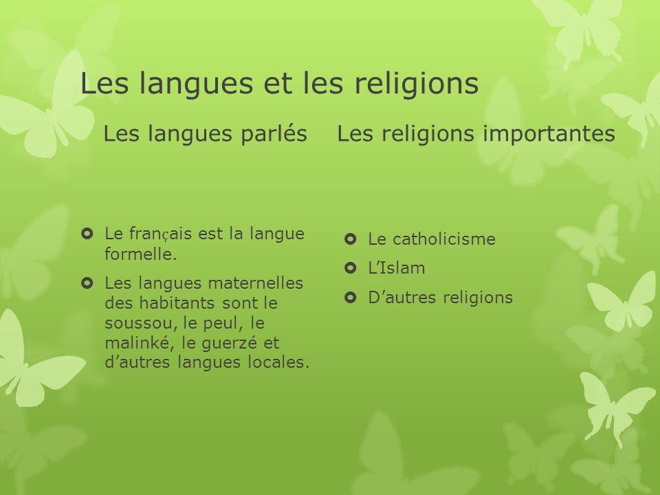 Les langues et les religions