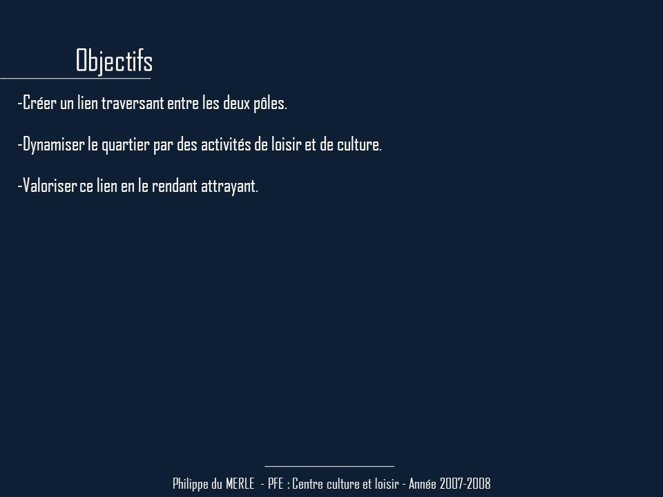Philippe du MERLE - PFE : Centre culture et loisir - Année 2007-2008