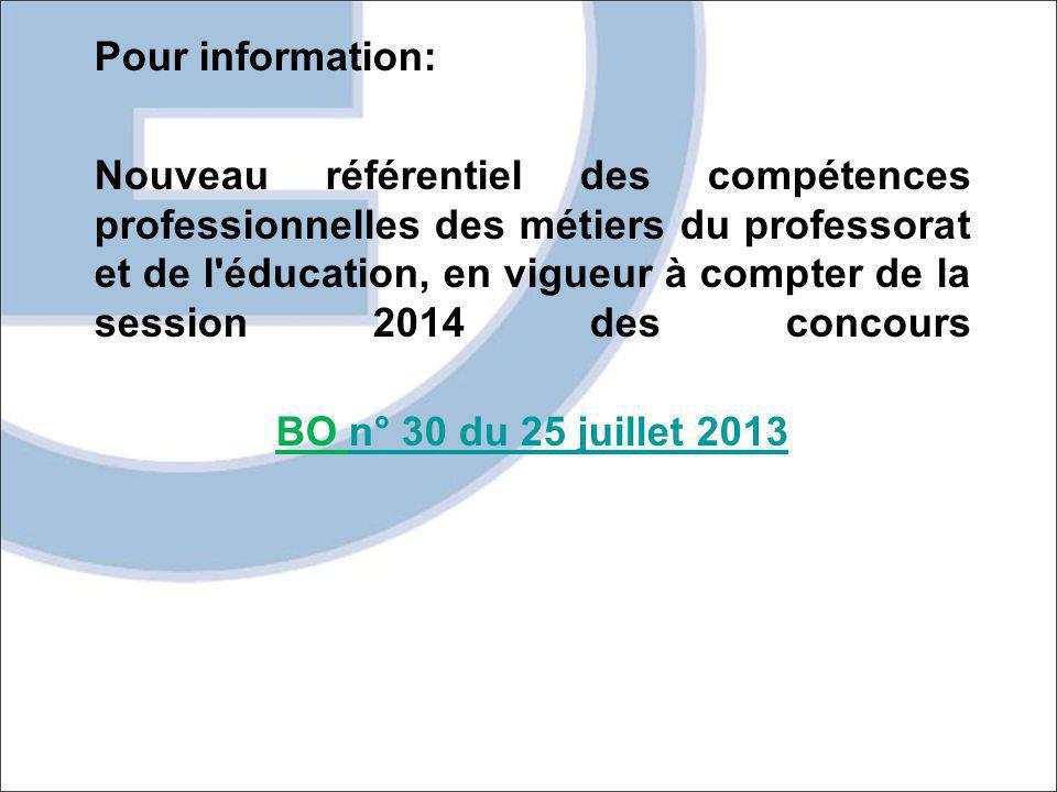 Pour information: