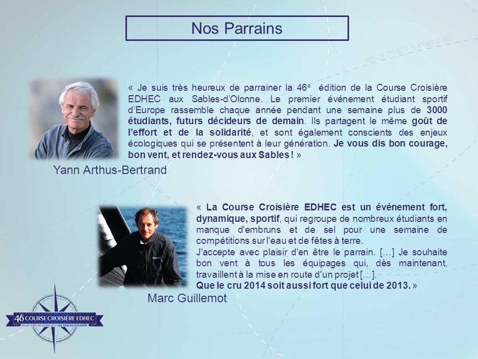 Nos Parrains Yann Arthus-Bertrand Marc Guillemot