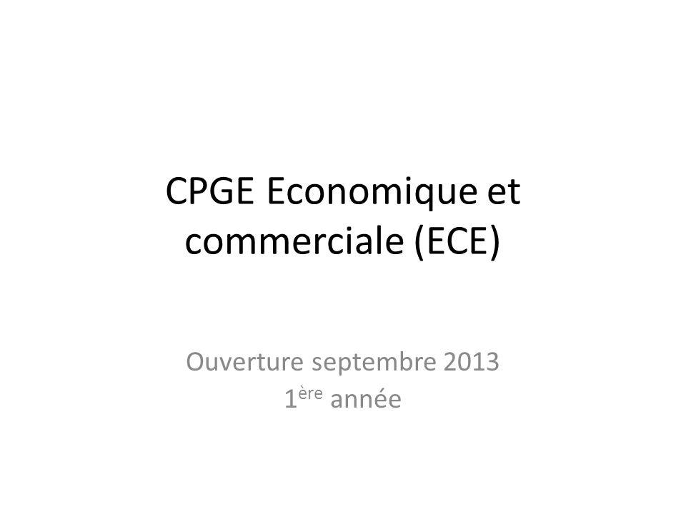 CPGE Economique et commerciale (ECE)