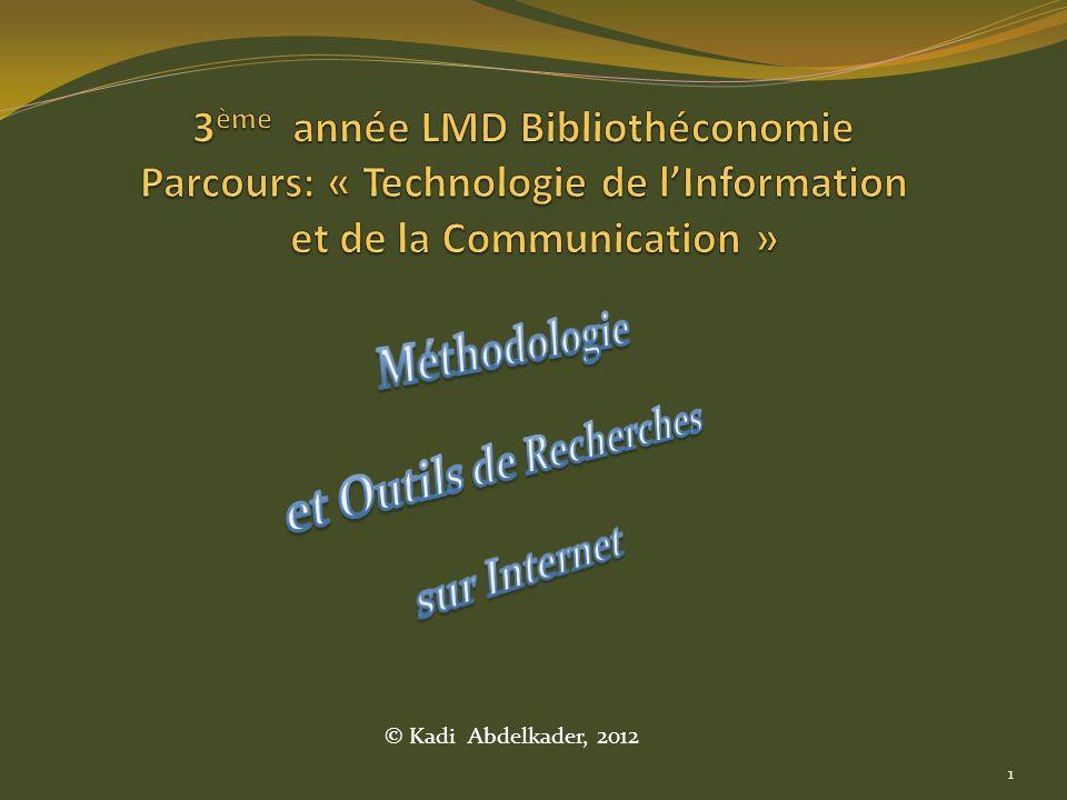 Méthodologie et Outils de Recherches sur Internet