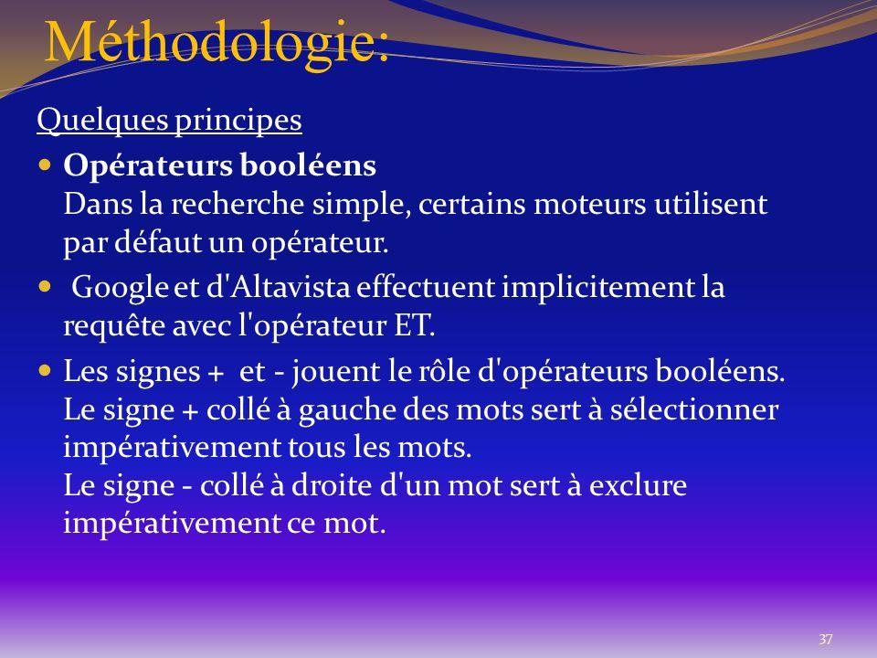 Méthodologie: Quelques principes