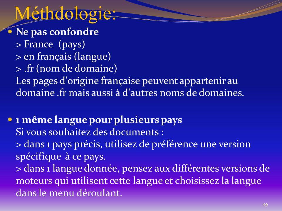 Méthdologie: