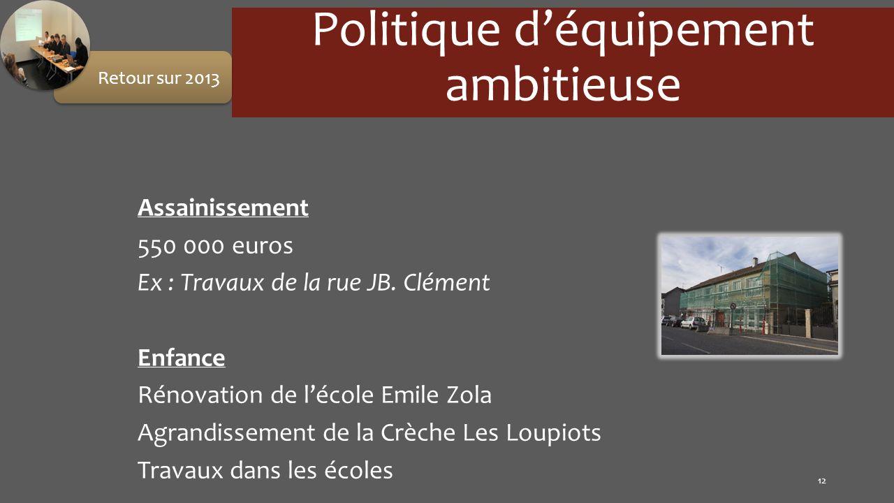 Politique d'équipement ambitieuse