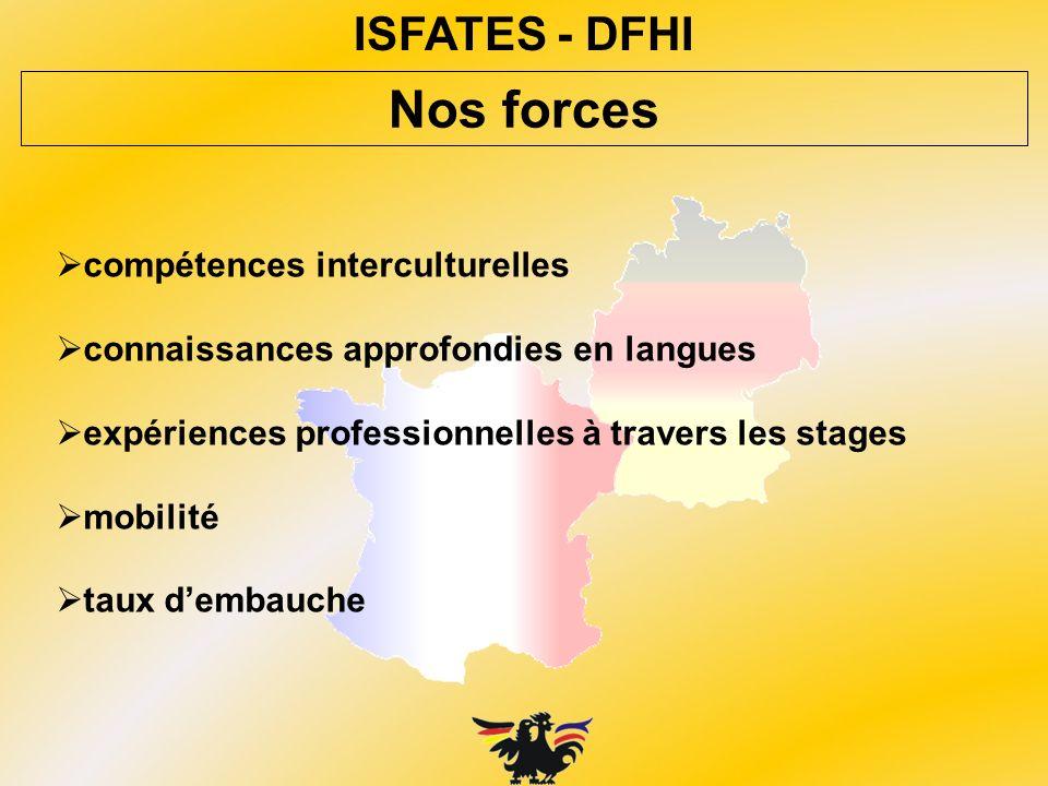 Nos forces ISFATES - DFHI compétences interculturelles