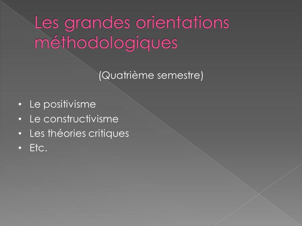 Les grandes orientations méthodologiques