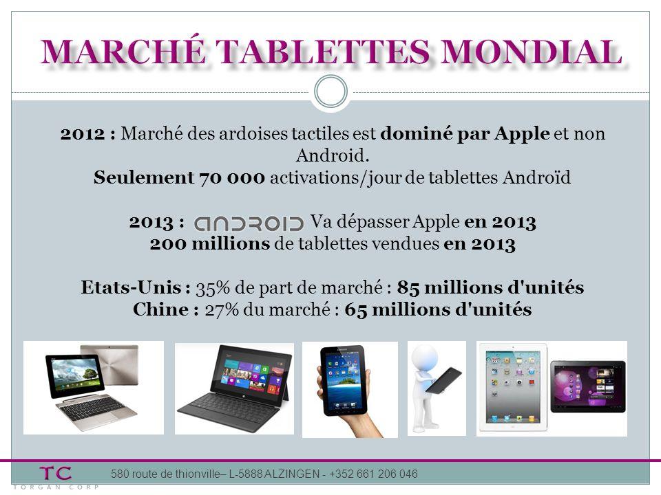 Marché tablettes mondial