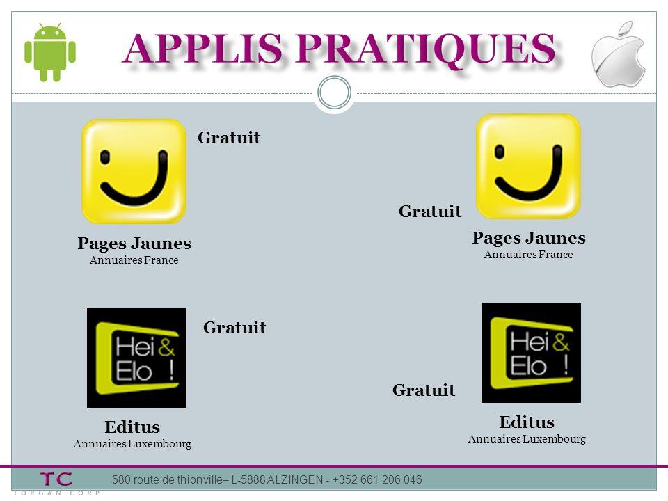 APPLIS pratiques Gratuit Gratuit Pages Jaunes Pages Jaunes Gratuit