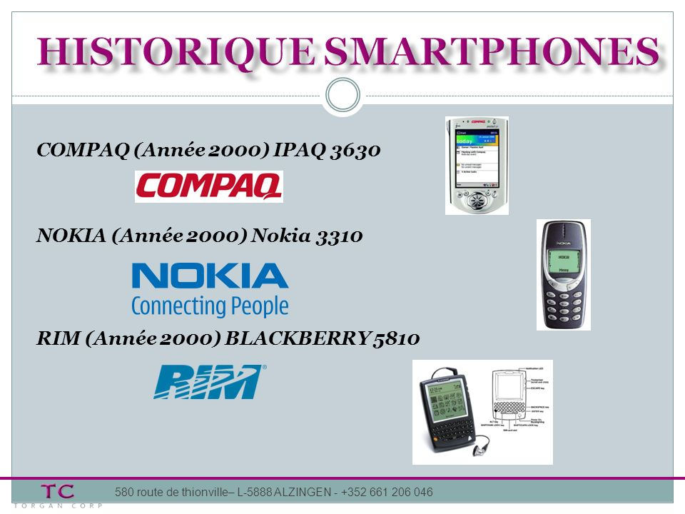 HISTORIQUE smartphones