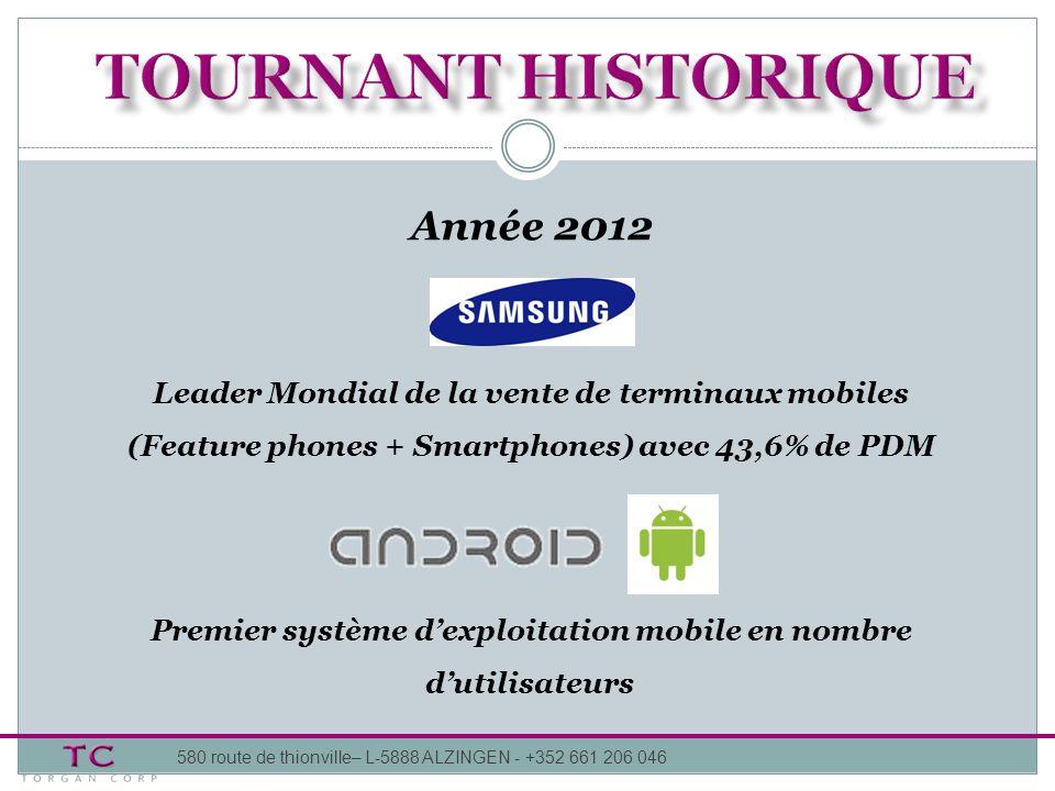 TOURNANT HISTORIQUE Année 2012