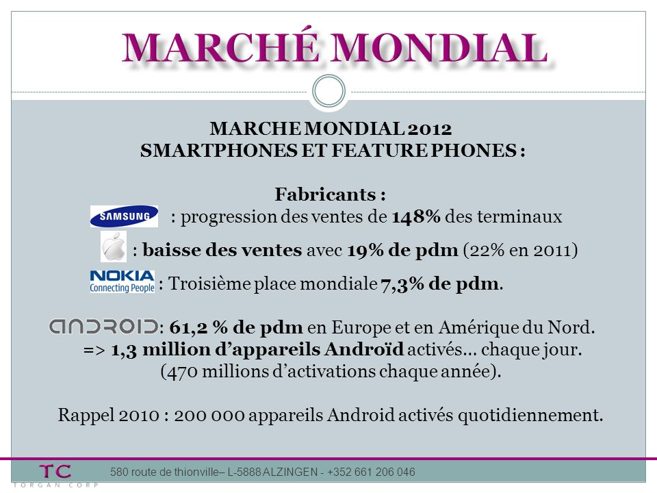 SMARTPHONES ET FEATURE PHONES :