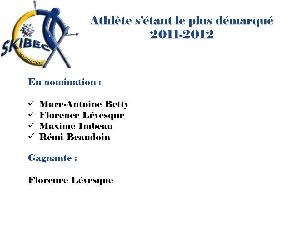 Athlète s'étant le plus démarqué 2011-2012
