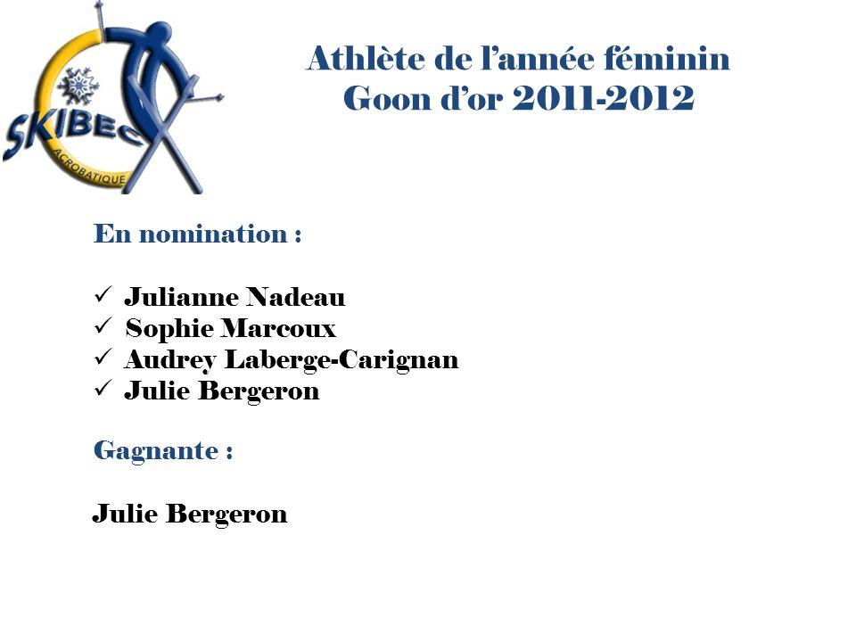 Athlète de l'année féminin Goon d'or 2011-2012