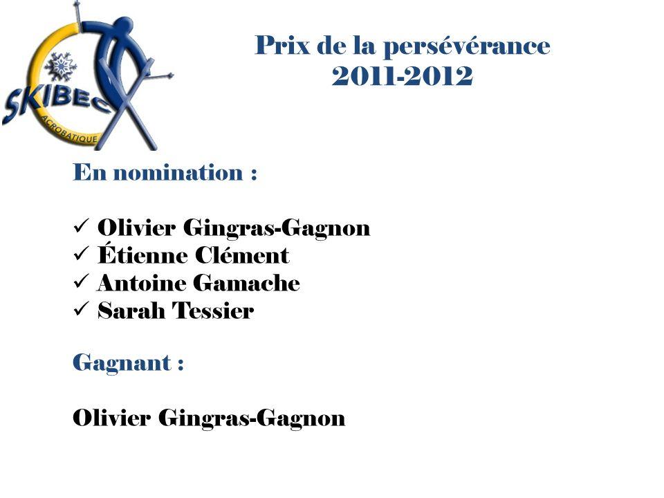 Prix de la persévérance 2011-2012