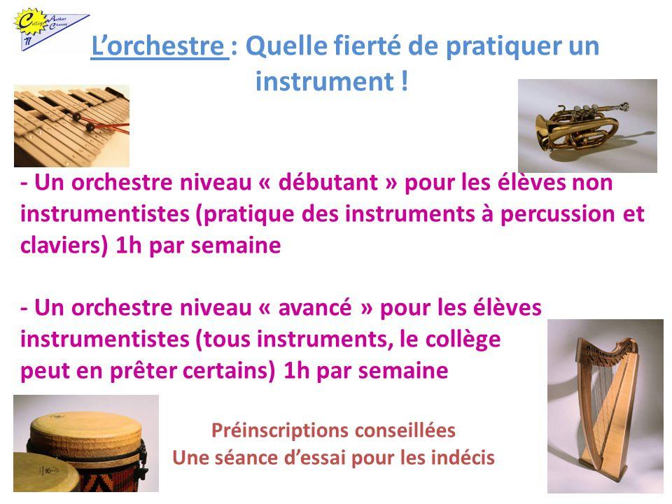 L'orchestre : Quelle fierté de pratiquer un instrument !