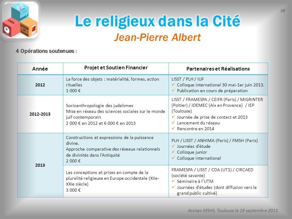 Le religieux dans la Cité Jean-Pierre Albert