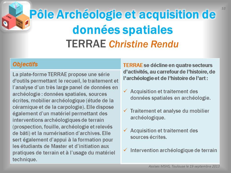 Pôle Archéologie et acquisition de données spatiales
