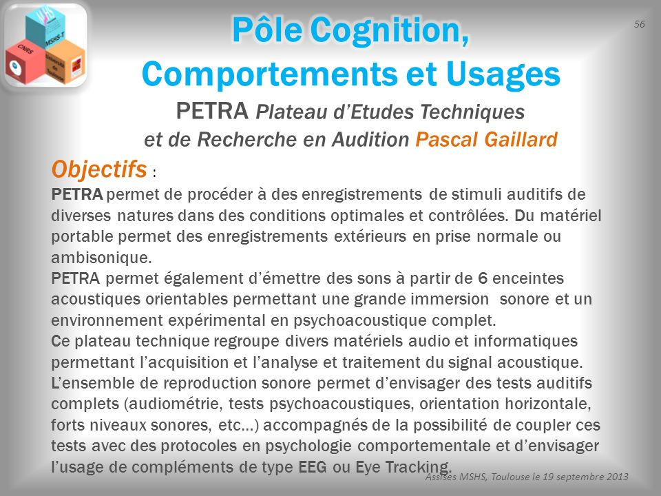 Pôle Cognition, Comportements et Usages
