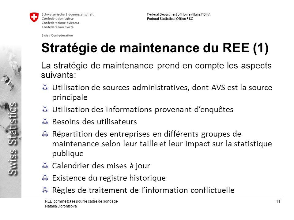 Stratégie de maintenance du REE (1)