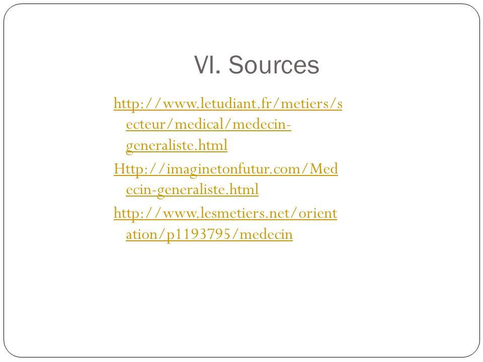 VI. Sources