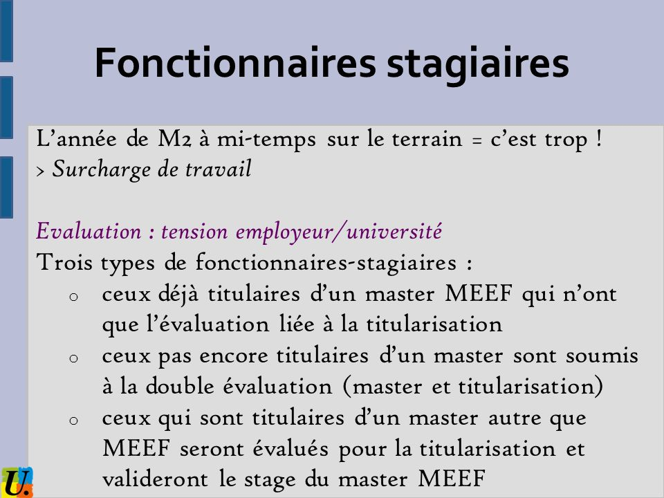 Fonctionnaires stagiaires