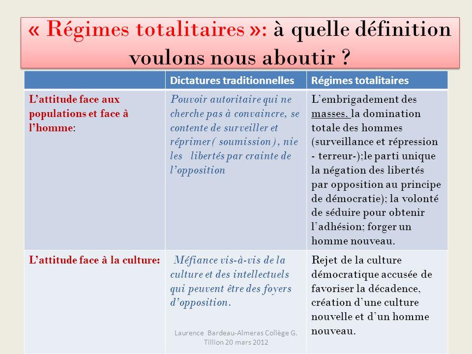 « Régimes totalitaires »: à quelle définition voulons nous aboutir
