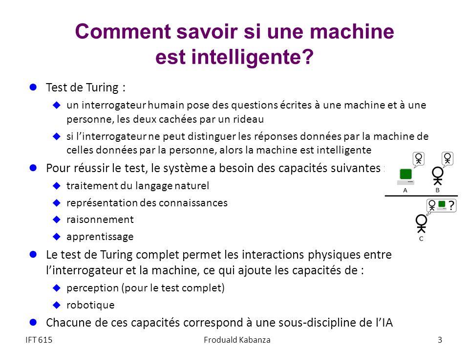 Comment savoir si une machine est intelligente