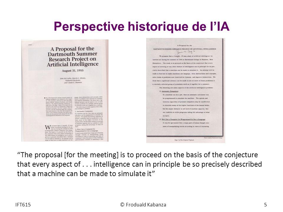 Perspective historique de l'IA
