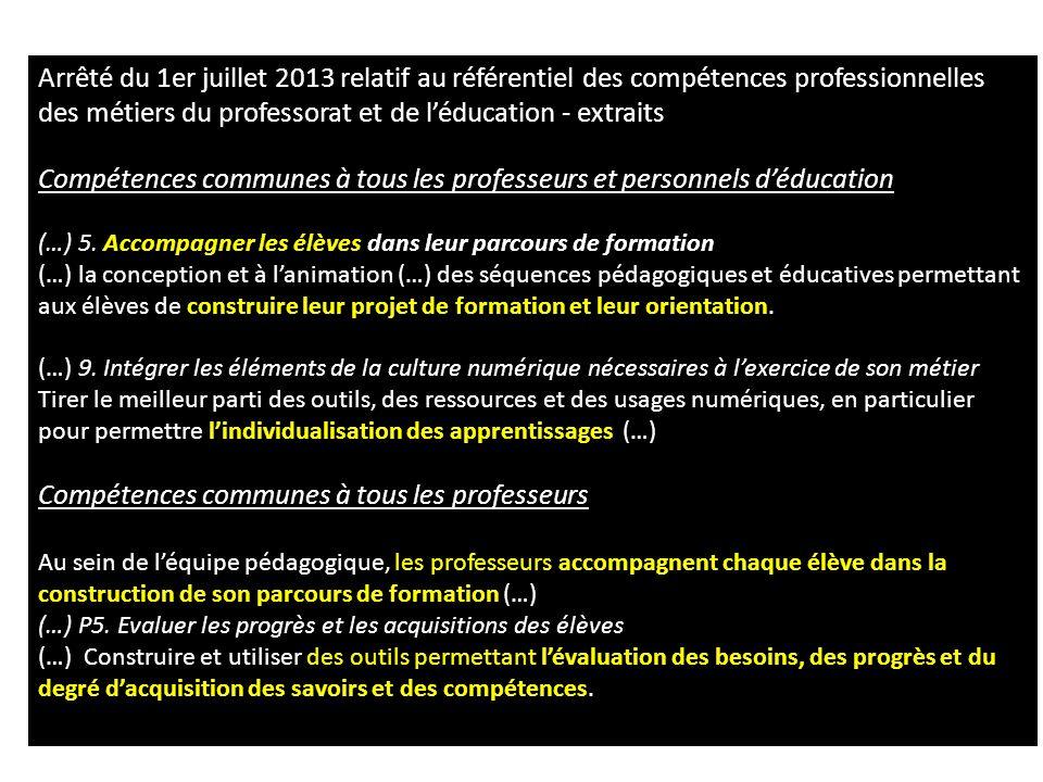 Compétences communes à tous les professeurs et personnels d'éducation