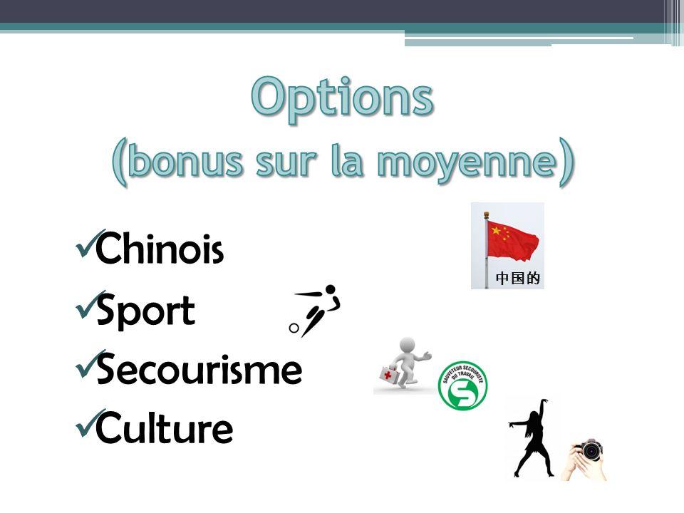 Options (bonus sur la moyenne)