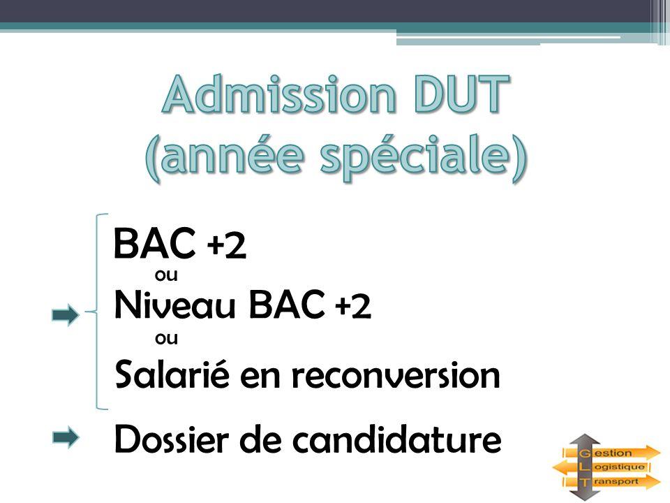 Admission DUT (année spéciale)