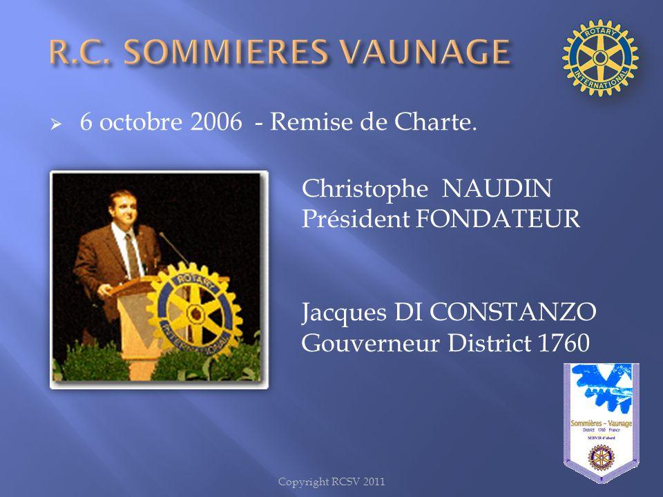 R.C. SOMMIERES VAUNAGE 6 octobre 2006 - Remise de Charte.
