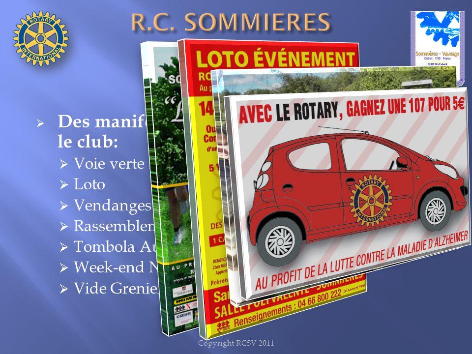 R.C. SOMMIERES VAUNAGE Des manifestations organisées ou initiées par le club: Voie verte Rotarienne.