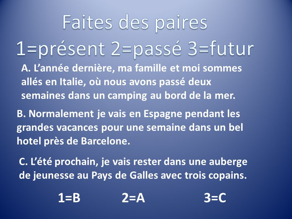 1=présent 2=passé 3=futur