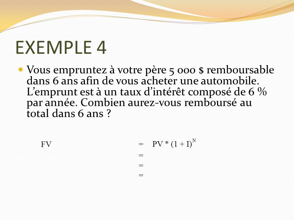 EXEMPLE 4